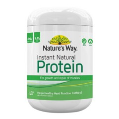 Natures Way佳思敏天然速溶蛋白质粉大豆植物蛋白粉老少皆宜 原味375g/桶 有机 非转基因